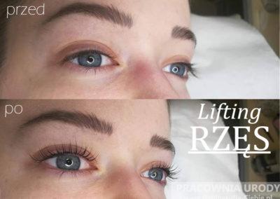 Lifting i laminacja rzęs w salonie kosmetycznym Pracownia Urody w Poznaniu