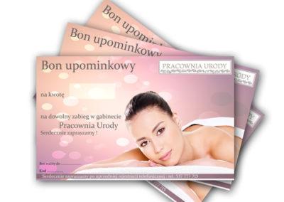 bony podarunkowe w pracownia urody salon kosmetyczny Poznań