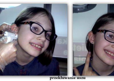 Przekłuwanie uszu w salonie kosmetycznym Pracowni Urody Poznań